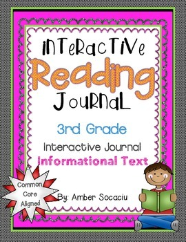 Interactive Reading Notebook for 3rd Grade Informational Texts