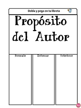 Interactive Reading Notebook in Spanish