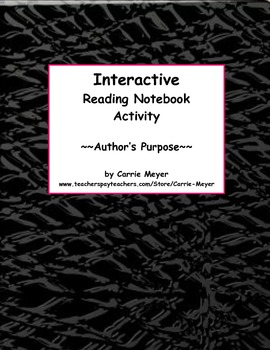 Interactive Reading Notebook:Author's Purpose