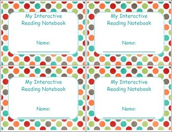 Interactive Reading Notebook/Journal Covers
