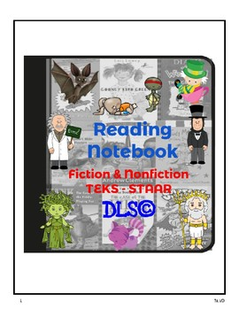 Interactive Reading Notebooks 3rd y 4th - TEKS - STAAR - All year content.