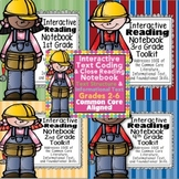 """Interactive Reading Notebooks Common Core 4+1 Close Reading """"5 STAR"""" Bundle"""
