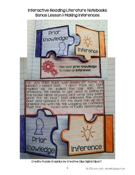 Interactive Reading Notebooks ~ FREE Bonus Lesson! Making Inferences