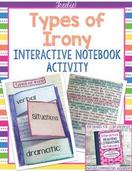 Interactive Reading Notebooks ~ Free Bonus Lesson #2 ~ Types of Irony