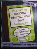 Interactive Reading Notebooks Informational Text ~ HARD COPY Spiral Bound Ntbk