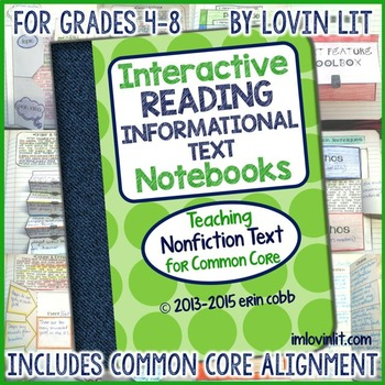 Reading Interactive Notebook: Informational Text