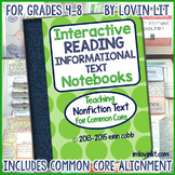 Reading Interactive Notebook: Nonfiction Text Activities