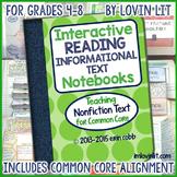 Reading Interactive Notebook: Nonfiction Text Activities