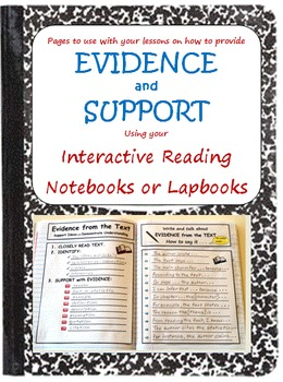 Interactive Reading Pages for Evidence and Support