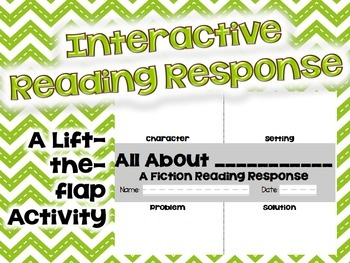 """""""Interactive Reading Response"""" A lift-the-flap activity fo"""
