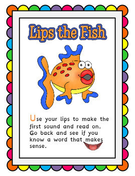 Reading Strategies Bookmark with Anchor Charts