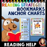 Reading Comprehension Strategies Bookmark with Anchor Charts