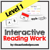 Interactive Reading Work Book {Level 1}