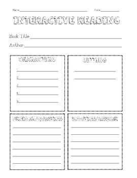 Interactive Reading Worksheet