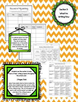 Interactive Reading & Writing Handbook / Notebook for Student Binders {Gr. 3-8}