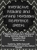Interactive Reading and Writing Notebook Reference Sheets