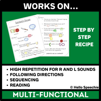 Interactive Recipe - Speech and Language Therapy!