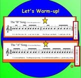 Interactive Recorder Warm-ups (Smartboard)