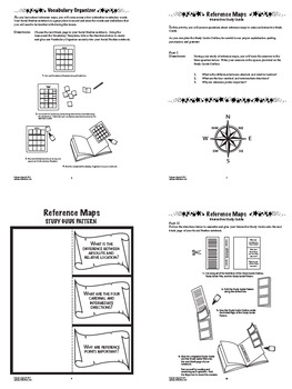 Cardinal and Intermediate Directions Interactive Notebook Unit (Reference Maps)
