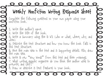 Interactive Respond to Reading Writing Guides