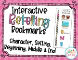 Interactive Retelling Bookmark - Character, Setting, Begin