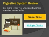 Interactive Review for Digestive System - with instant feedback!