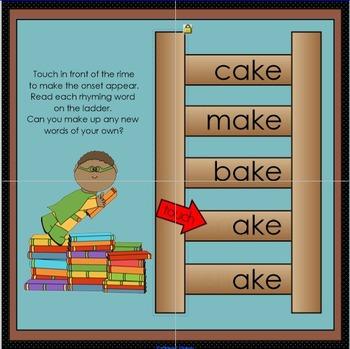 Interactive Rhyming Ladder: Long A CVCe Words