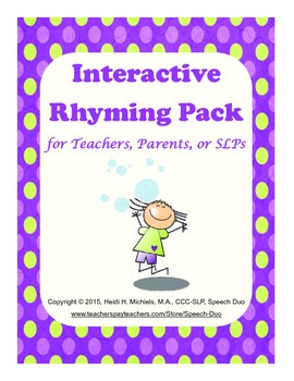 Interactive Rhyming Pack