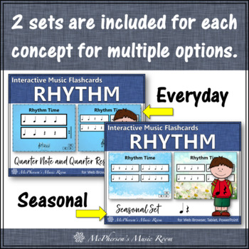 Interactive Rhythm Flash Cards (Bundle Set)