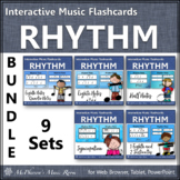 Rhythm Flashcards {Bundle} Interactive Rhythm Flash Cards