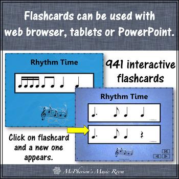 Rhythm Flashcards {Bundle} Interactive Rhythm Flash Cards