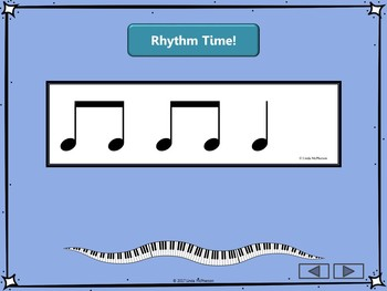 Interactive Rhythm Flash Cards for 3/4 Meter