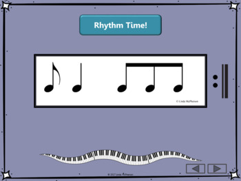 Interactive Rhythm Flash Cards for 6/8 Meter
