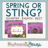 Spring or Sting? Interactive Rhythm Game - Quarter, Eighth Rest