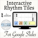 Interactive Rhythm Tiles for Distance Learning: 4/4 edition