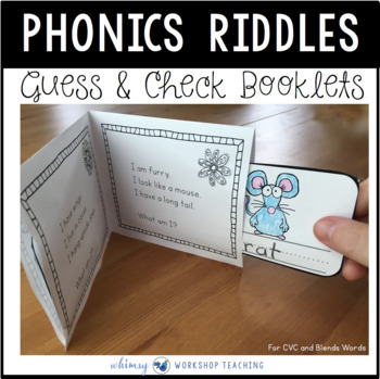 Interactive Riddle Booklets: CVC Short Vowels - Whimsy Workshop Teaching