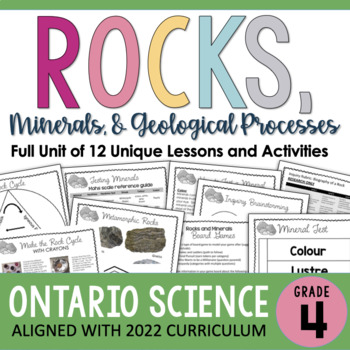 ONTARIO SCIENCE: Gr. 4 Rocks and Minerals Complete Inquiry Unit