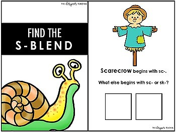Interactive S-Blends Adapted Book
