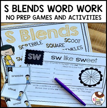 Interactive S Blends Word Work (No Prep)