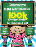 Interactive Sight Word Reader and Crown: Sight Word LOOK