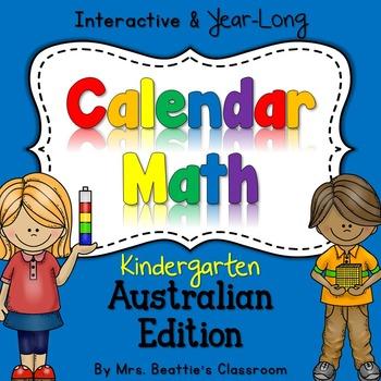 Interactive Calendar Math for SMART Board ~KINDERGARTEN Au