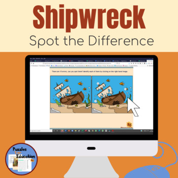 Shipwreck Spot the Difference Free Interactive Puzzle