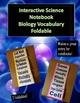 Interactive Science Biology and Cells Vocabulary Foldable