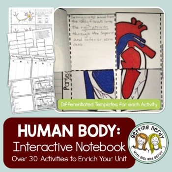 Human Body Systems - Interactive Notebook Activity Pack | TpT