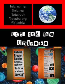 Interactive Science Notebook Earth Science Vocabulary Foldable