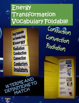Interactive Science Notebook Energy Transformation Vocabulary Foldable