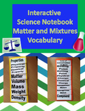 Interactive Science Notebook Vocabulary Foldable on Matter and Mixtures