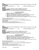 Interactive Science Notebook Lab Setup Template