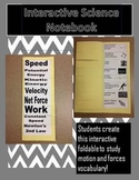 Interactive Science Notebook Motion and Forces Vocabulary