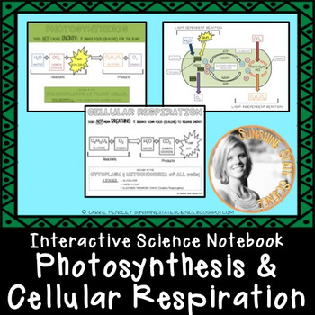 Interactive Science Notebook PHOTOSYNTHESIS & CELLULAR RES